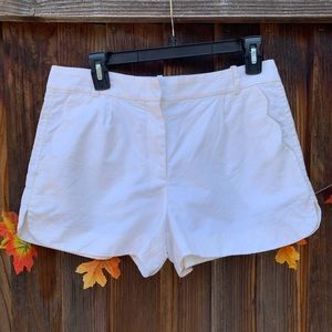 J-Crew white scallop pockets shorts